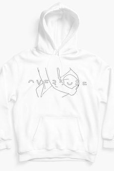 REST_FActory - overdose white hoodie