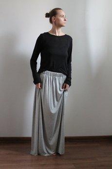 Szarymary - Długa zwiewna spódnica szary melanż