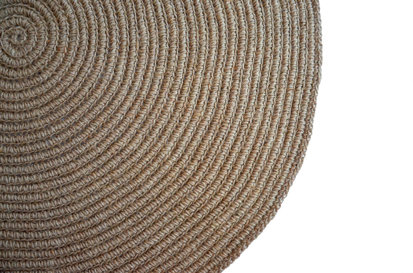 Okrągły Dywan Ręcznie Robiony 100cm Neutralny Mamy