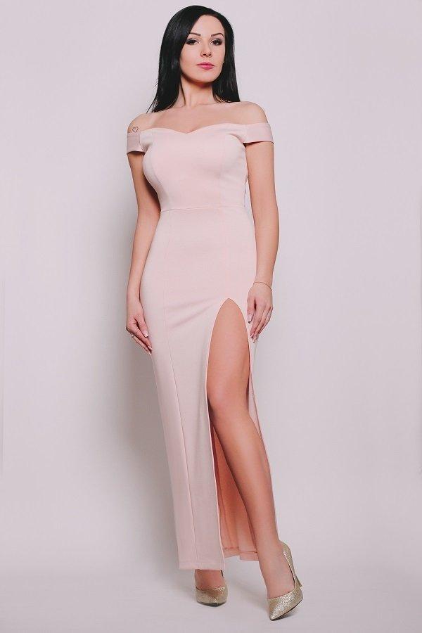 535246afa7 Grace Sukienka Maxi Pudrowy Róż - Różowy