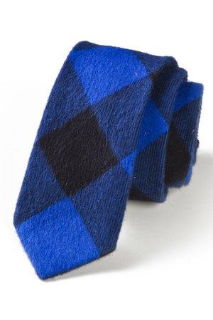 Krawat męski FLANELA kratka