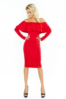 DRESSROAD - Sukienka HISZPAN CZERWONA
