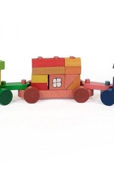 Tarnawa Toys - Pociąg z klocków kolorowy- duży