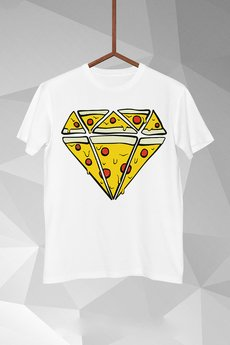 FailFake - T-shirt Pizza Diamend Męski