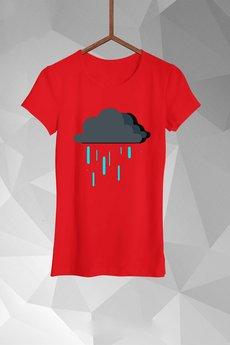 - T-shirt Deszczowe Chmurki Damski