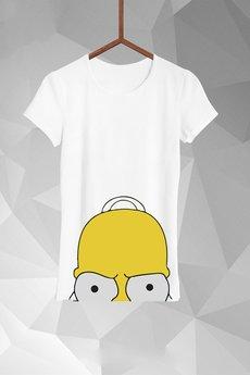 FailFake  - T-shirt Przyczajony Homer Damski