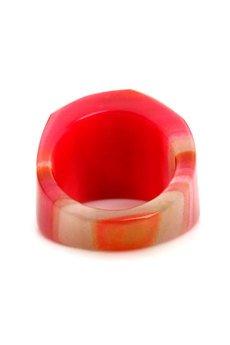 Brazi Druse Jewelry - InspiRING Druza Agatu Róż rozmiar 21