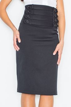 FIGL - Spódnica M036 Czarny