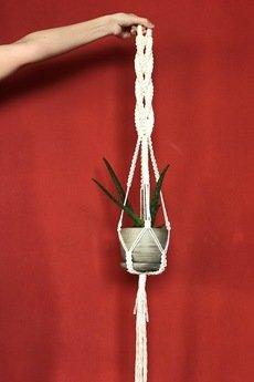 WhiteOwlKnot - Makrama na kwiaty, kwietnik wiszący, uchwyt na doniczki, dekoracje dla domu