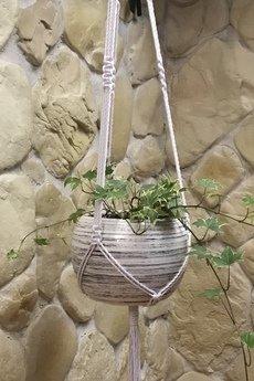 - Makrama na kwiaty, kwietnik wiszący, uchwyt na doniczki, dekoracje dla domu