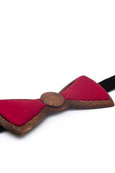 WoodenLife - Merlot – Czerwona Drewniana Mucha na Studniówkę