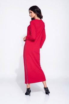 Bien Fashion - Długa sukienka bawełniana z zamkiem
