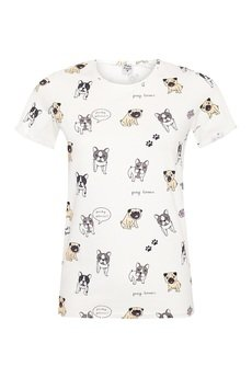 Pinky Planet - T- shirt Frenchie love Pugs