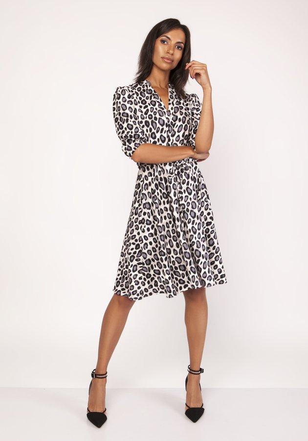 3704d9acc6 Uniwersalna Sukienka Z Delikatną Stójką