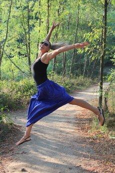 Szarymary - Długa zwiewna spódnica chaber