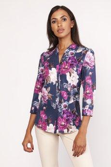 Lanti - Koszula o luźnym kroju, K111 kwiaty