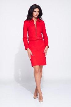 Bien Fashion - Elegancka spódnica ołówkowa z rozporkiem