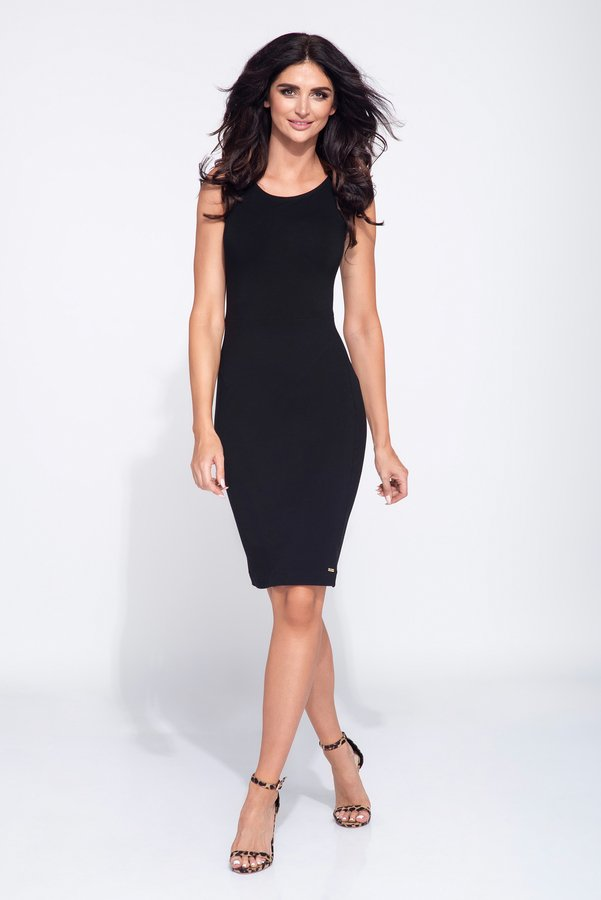 189a85ac42 Czarna Sukienka Ołówkowa Basic - Czarny