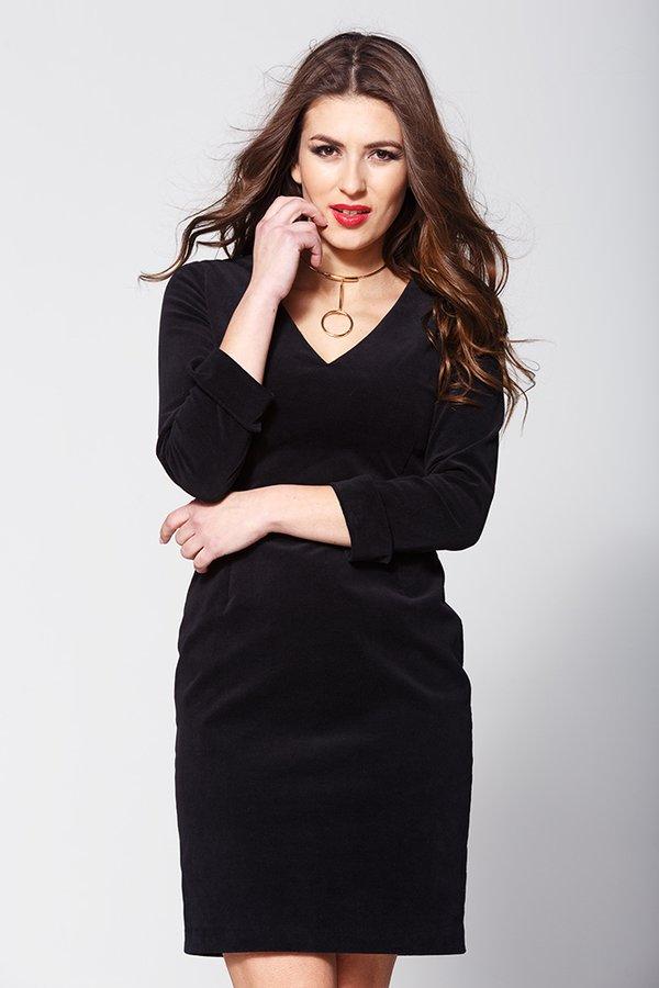 Inès Biznesowa Mała Czarna Czarny   Zoee   Sukienki