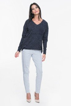 Mosali - Mosali - Sweter z Ozdobną Kieszenią M011
