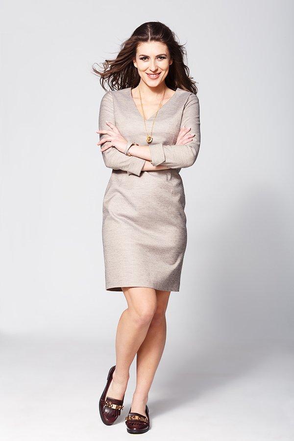 b877e9c5d8 Cathrine Koktajlowa Sukienka Midi - Beżowy