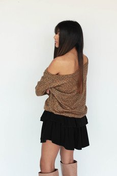 Elevenstory - Sweter Ninka Panther One shoulder