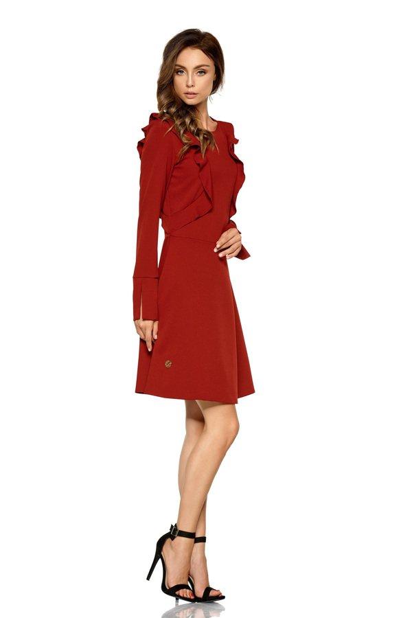 415954d460 Sukienki Eleganckie Sukienki z Falbaną Sukienki Klasyczne Sukienki z  Rozcięciem Sukienki Wizytowe