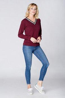 Mosali - Mosali - Sweterek z Ozdobnym Dekoltem M063