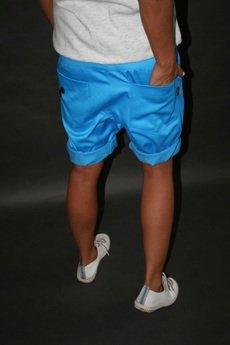 Button - Button drill short pants krótkie spodenki turkusowe