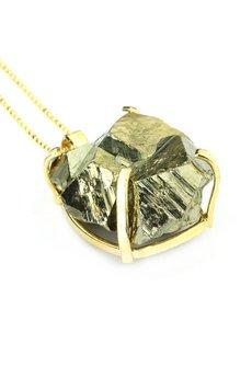 Brazi Druse Jewelry - Naszyjnik Piryt