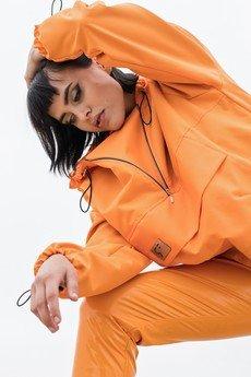 REST_FActory - Kurtka wiatrówka typu anorak pomarańczowa