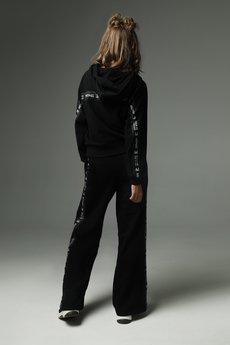 Madnezz - Spodnie Strip that down - czarne