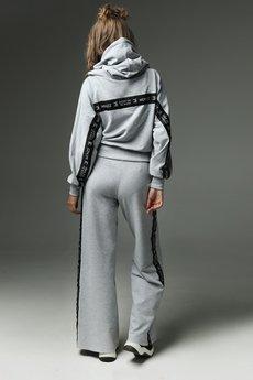 Madnezz - Spodnie Strip that down - szare