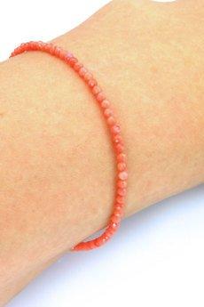 Brazi Druse Jewelry - Bransoletka Koral Różowy srebro