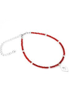 Brazi Druse Jewelry - Bransoletka Koral Romb srebro