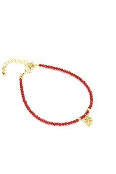 Brazi Druse Jewelry - Bransoletka Koral Koniczynka złoto