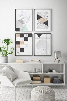 goorska - Zestaw plakatów skandynawskich  - minimalistyczne plakaty geometryczne