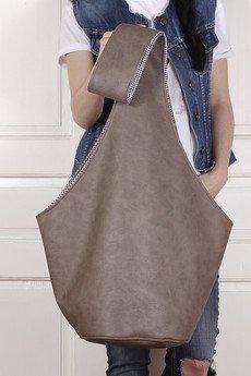 hairoo - Long Boogi bag brązowa wygodna torba z szerokim paskiem