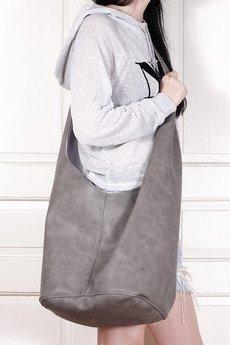 hairoo - Long Boogi bag szara wygodna torba z szerokim paskiem