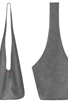 hairoo - Long Boogi bag grafitowa wygodna torba z szerokim paskiem