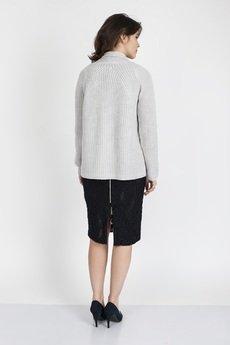 MKM swetry - Kardigan z fakturą, SWE120 jasno szary MKM