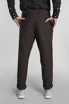 Delikatessen - Spodnie z Zakładkami Brązowe