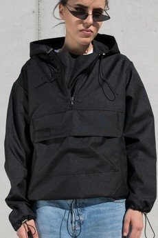 REST_FActory - Softshell black hoodie