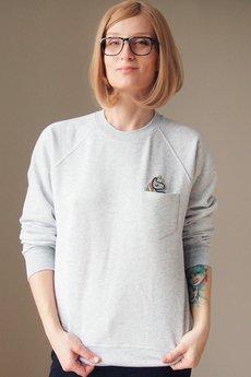 ONE MUG A DAY - Bluza raglan kieszonka jednorożec holo