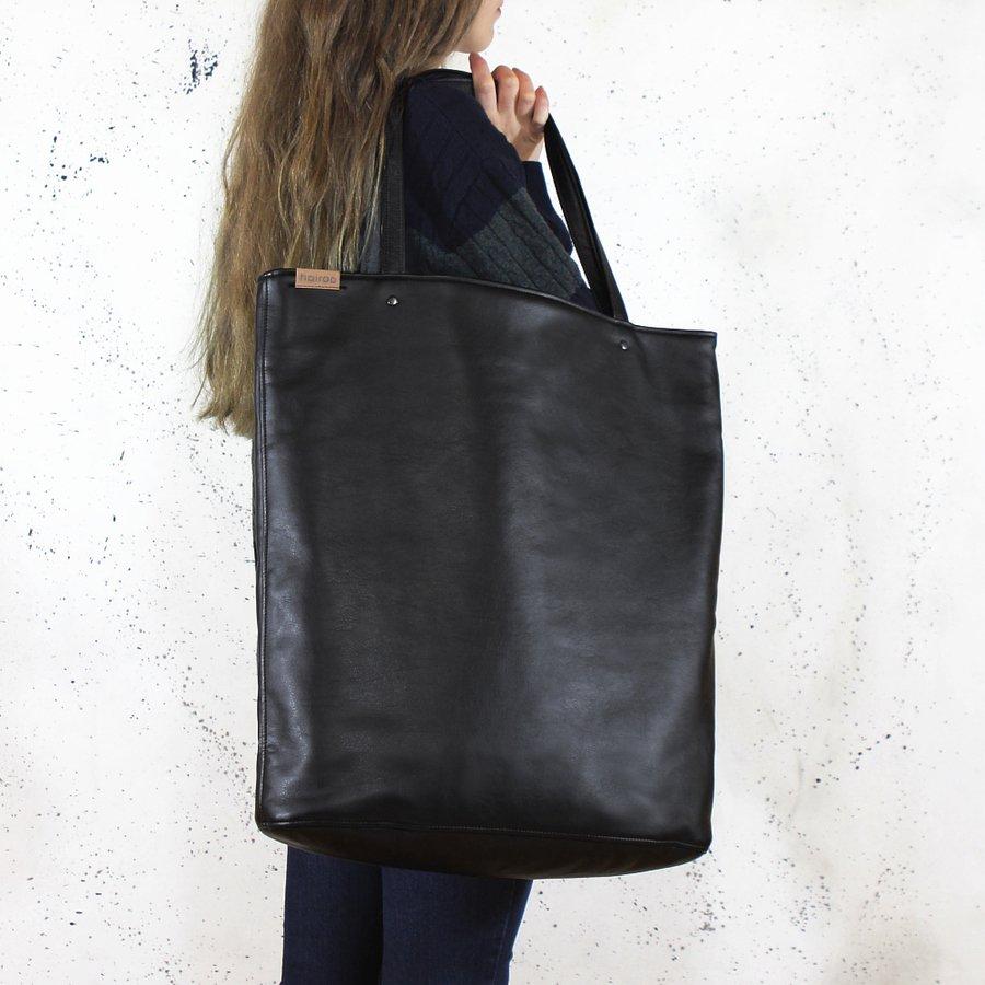 a567da63 Mega Shopper Bag Czarna Torba Oversize Vegan - Czarny | Hairoo ...