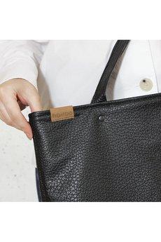 hairoo - Mega Shopper bag czarna teksturowana torba oversize Vegan