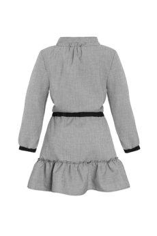 DOROTHÉ - Sukienka w drobną kratę z falbankami