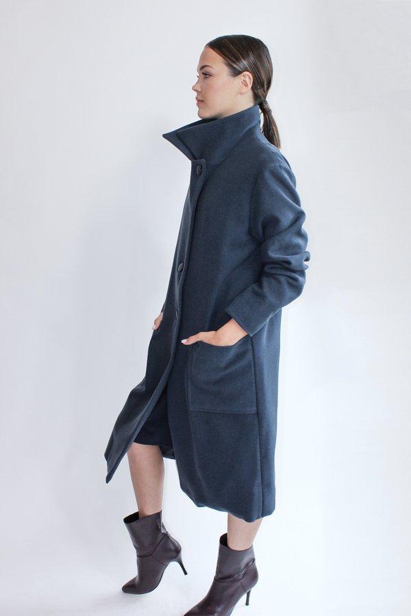 Wełniany Płaszcz Scandinavian Dream Deep Navy Wool