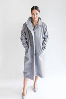 TRUE COLOR by ANN - Wełniany płaszcz SCANDINAVIAN DREAM GREY WOOL