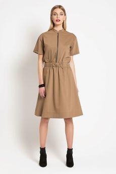 TRUE COLOR by ANN - Sukienka GOOD EVENING Camel Wool